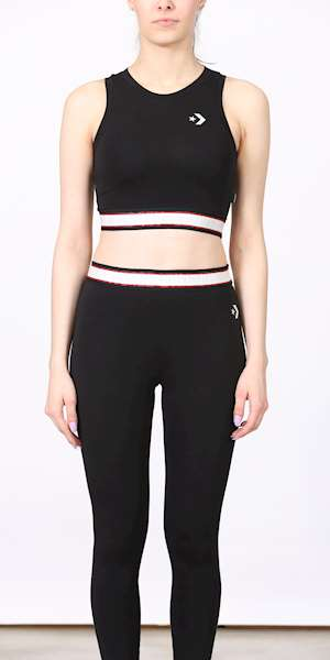 TOP CONVERSE TANK CROP ELASTIC CHEVRON