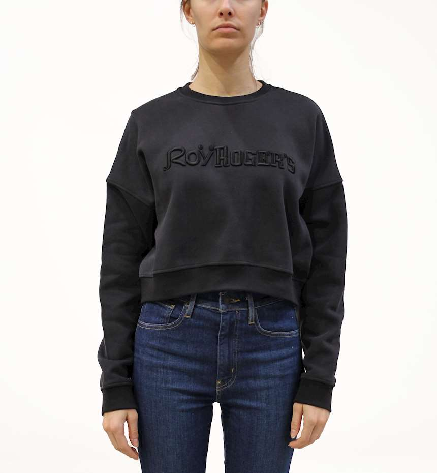 FELPA ROY ROGERS CREW NECK CROPPED