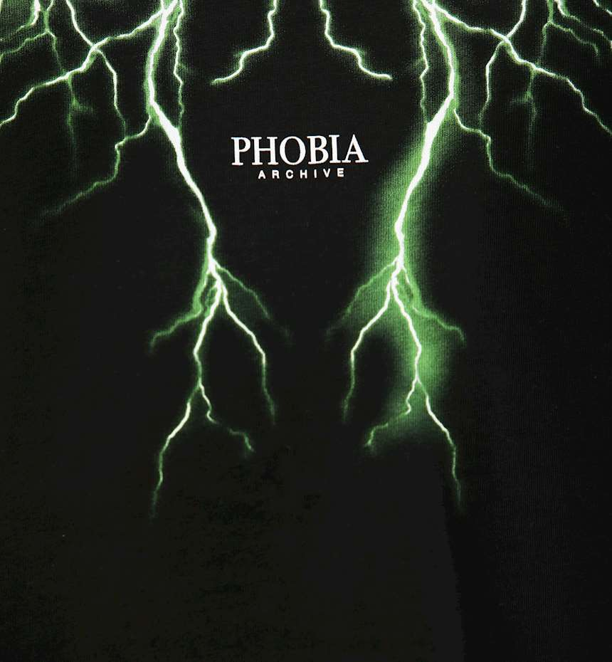 T-SHIRT PHOBIA GREEN LIGHTNING