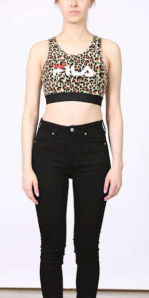 TOP FILA WOMEN JOSETTE AOP CROP