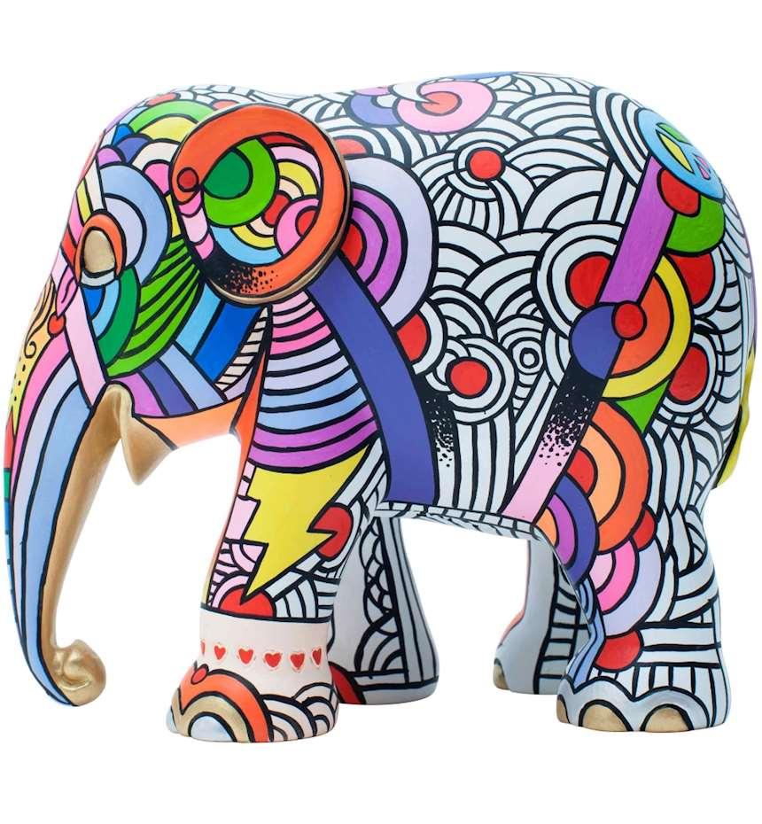 ELEPHANT PARADE PEACE,LOVE & MUSIC 15 CM