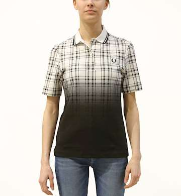POLO FRED PERRY OMBRE TARTAN