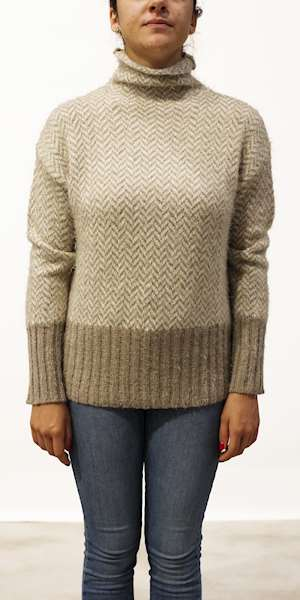 MAGLIONE DEHA HIGH NECK SWEATER