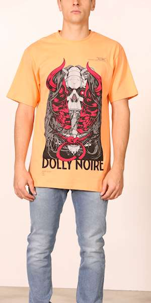 T-SHIRT ONI MASK DOLLY NOIRE