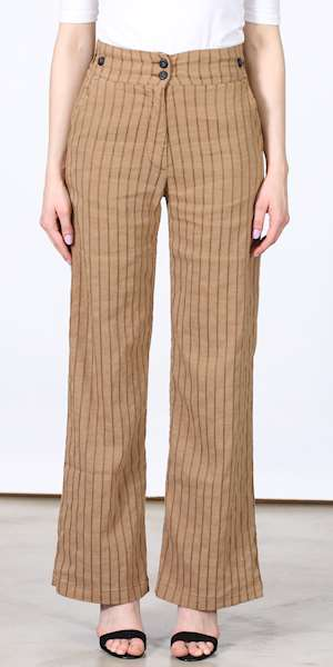 PANTALONE 4.10 DUE BOTTONI SMOKY RIGATO