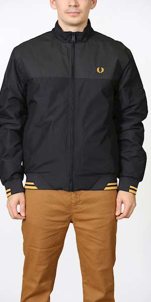 GIUBBINO FRED PERRY  PRINTED PANEL SPORTS JACKET
