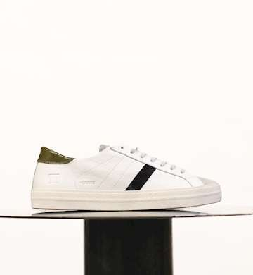 SNEAKERS D.A.T.E. HILL LOW VINTAGE CALF WHITE-ARMY M8A