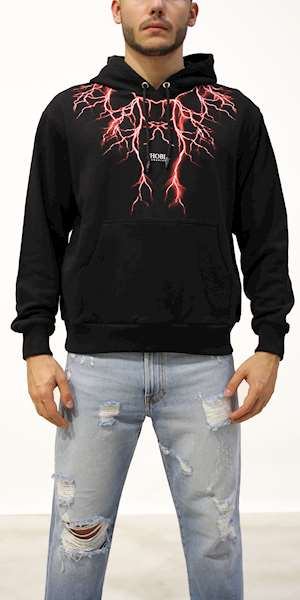 FELPA PHOBIA HODDIE RED LIGHTNING