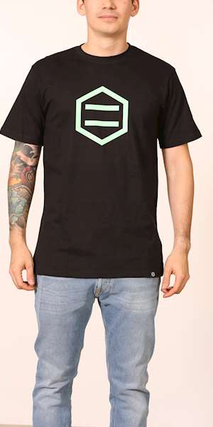 T-SHIRT DOLLY NOIRE HEXAGON MINT BLACK