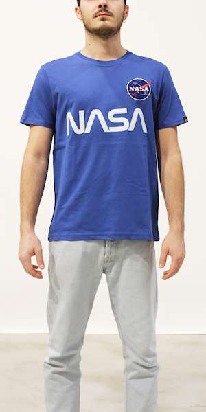 T-SHIRT ALPHA INDUSTRIES NASA REFLECTIVE