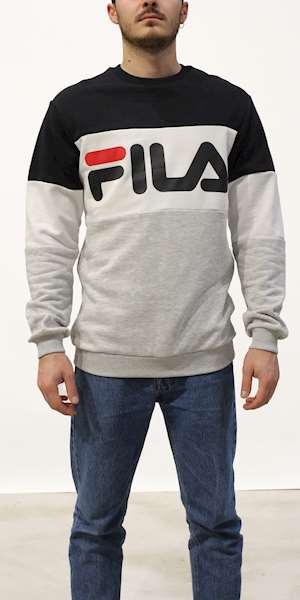 FELPA FILA STRAIGHT BLOCKED CREW