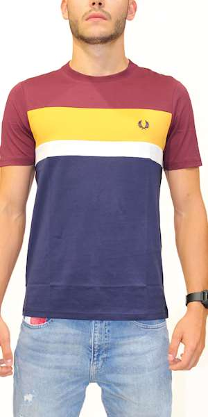 T-SHIRT FREDPERRY FP COLOUR BLOCK T-SHIRT