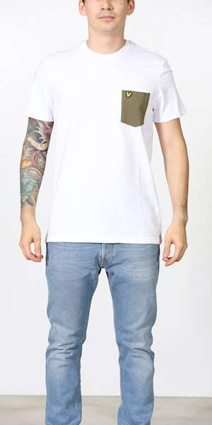 T-SHIRT LYLE&SCOTT CONTRAST POCKET