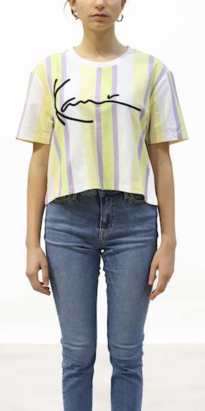 T-SHIRT KARL KANI SIGNATURE STRIPE