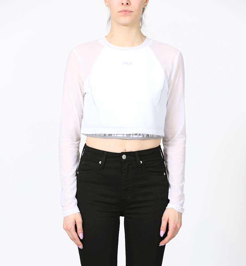 TOP FILA WOMEN MAGENTA CROPPED DOUBLE LAYER