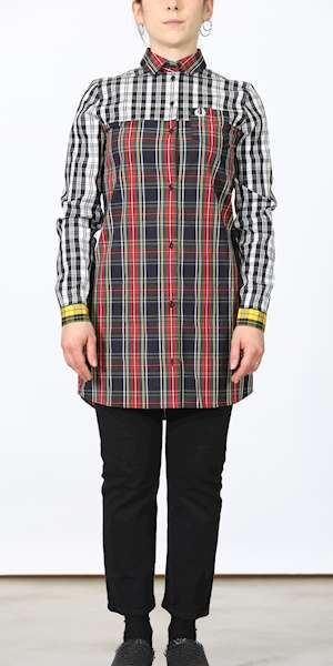 CAMICIA FREDPERRY FP MIXED TARTAN SHIRT DRESS