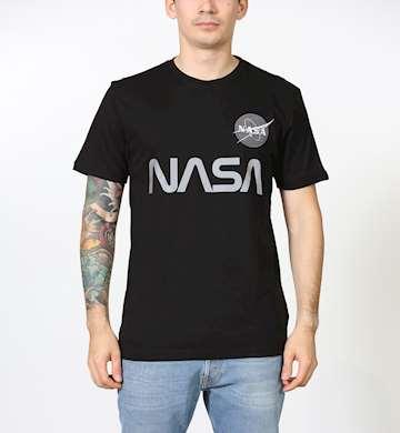 T-SHIRT ALPHA INDUSTRIES NASA REFLECTIVE T