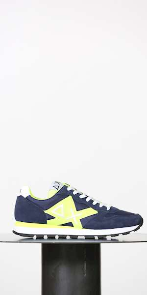 SCARPE SPORTIVE SUN68 TOM LOGO PATCH FLUO