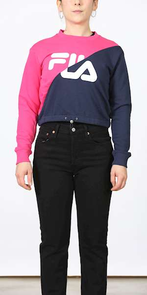FELPA FILA WOMEN BANJI CROPPED CREW SWEAT