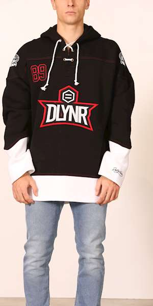 FELPA DOLLY NOIRE HOCKEY HOODIE RED/WHITE