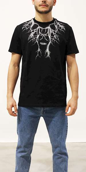 T-SHIRT PHOBIA WHITE LIGHTNING
