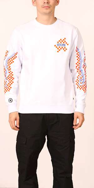 FELPA OCTOPUS CHECKERED LOGO CREWNECK