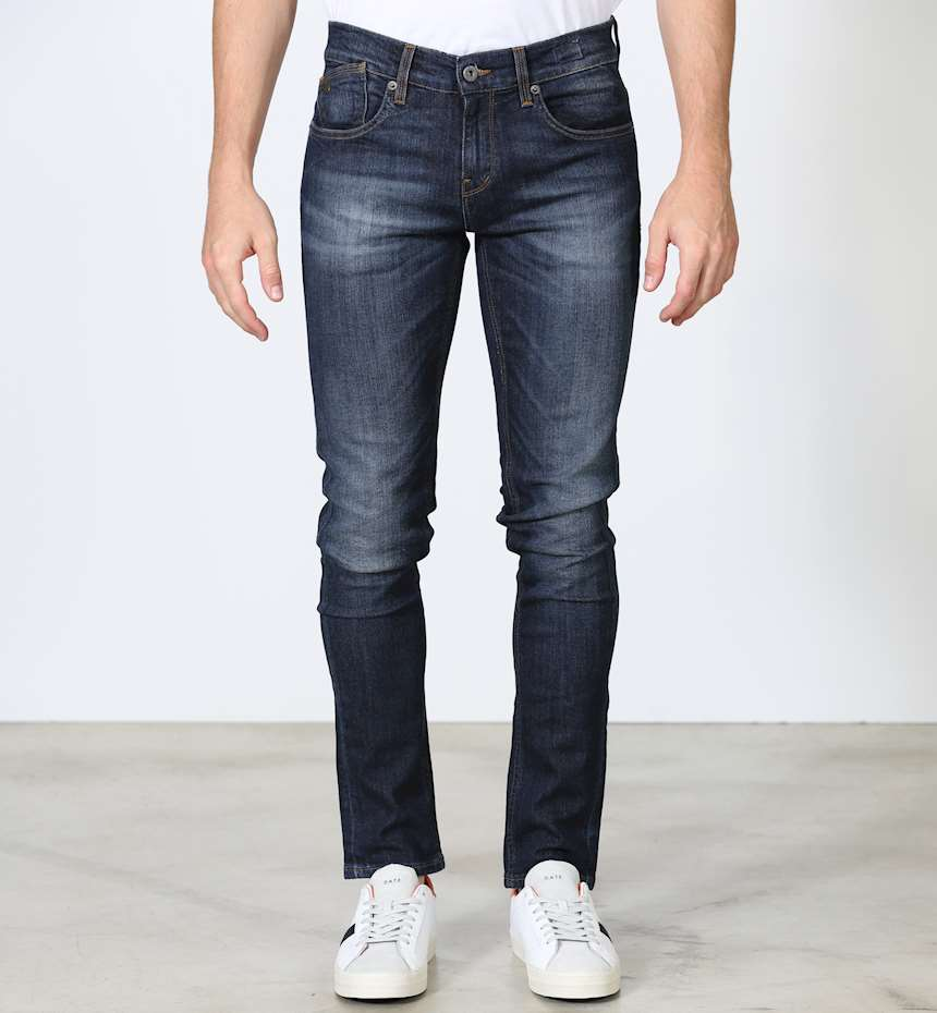 JEANS UNIFORM DEAN BLU DENIM HYPERFLEX SKINNY