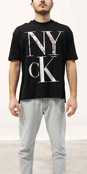 T-SHIRT CALVIN KLEIN LARGE NYCK PHOTO PRINT