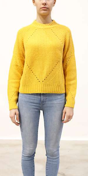 MAGLIONE SCOTCH&SODA FUZZY KNIT WITH CABLE STITCHES