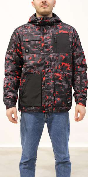 GIUBBINO DOLLY NOIRE  FULL ZIP CAMO GLITCH