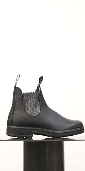 STIVALE BLUNDSTONE BLACK LEATHER SILVER GLITTER