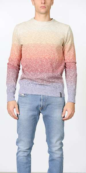 MAGLIONE SCOTCH&SODA LIGHTWEIGHT CREWNECK PULL IN RECYCLED SLUB YARN QUALITY