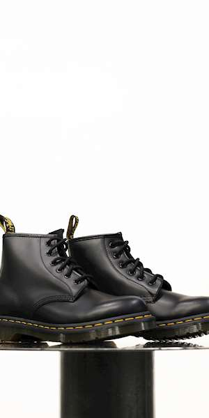 STIVALE DR.MARTENS 101 YELLOW STITCH SMOOTH