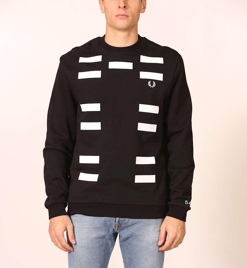 FELPA FRED PERRY BLOCK GRAPHIC