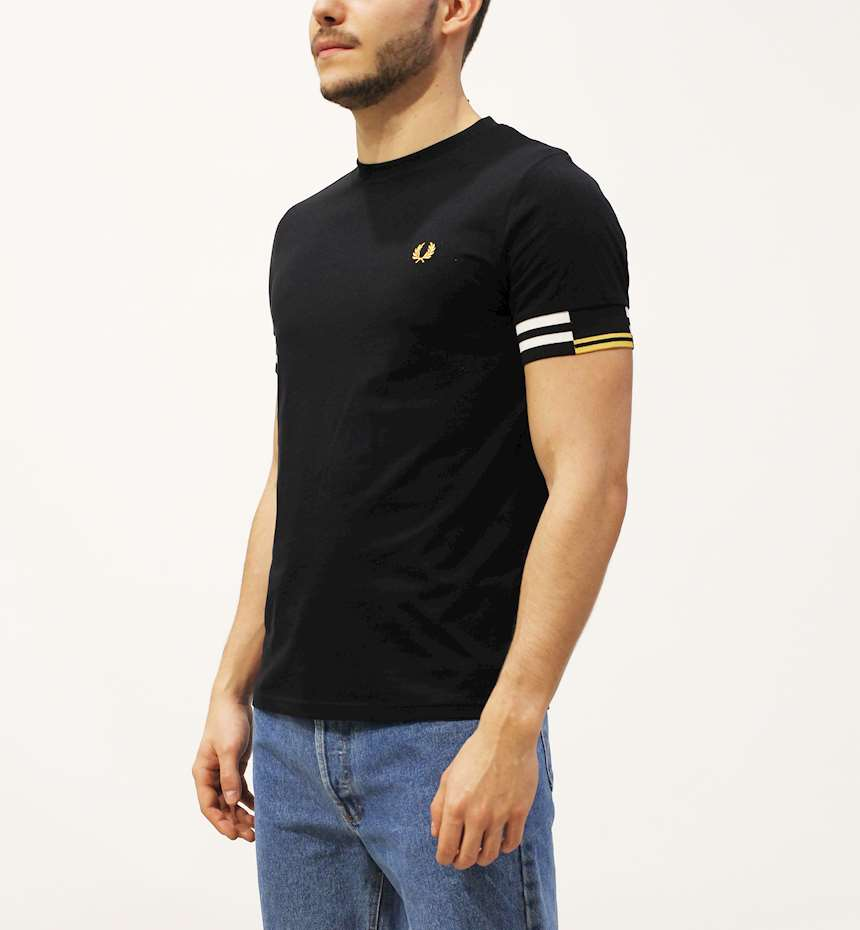 T-SHIRT FREDPERRY FP ABSTRACT CUFF
