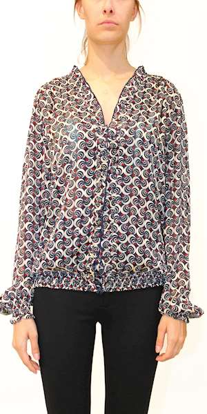 CAMICIA SCOTCH&SODA FEMININE TOP WITH RUFFLE AROUND THE NECKLINE