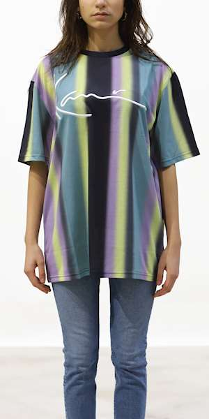 T-SHIRT KARL KANI FADED STRIPE