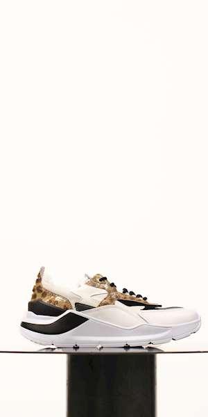 SNEAKERS D.A.T.E. FUGA ANIMALIER WHITE-LEOPARD