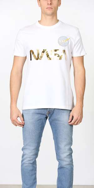 T-SHIRT ALPHA INDUSTRIES NASA REFLECTIVE T
