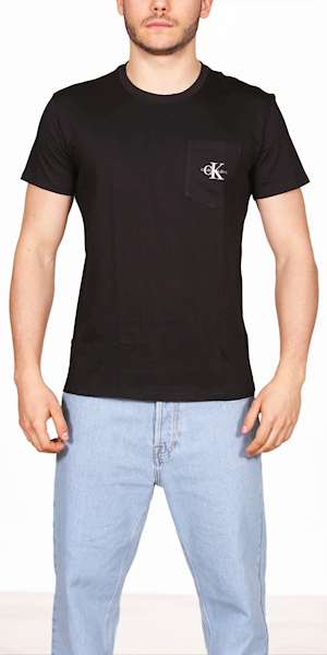 T-SHIRT CALVIN KLEIN MONOGRAM POCKET TEE