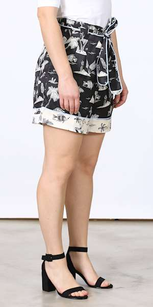SHORT SCOTCH&SODA PRINTED WITH BELT