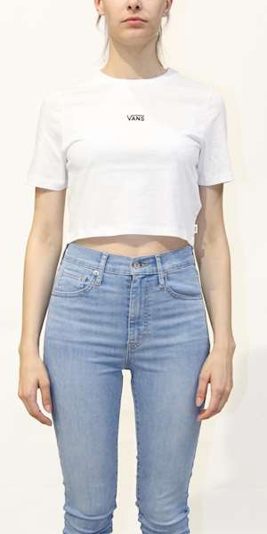 T-SHIRT VANS WM FLYING V CROP CREW SPORT