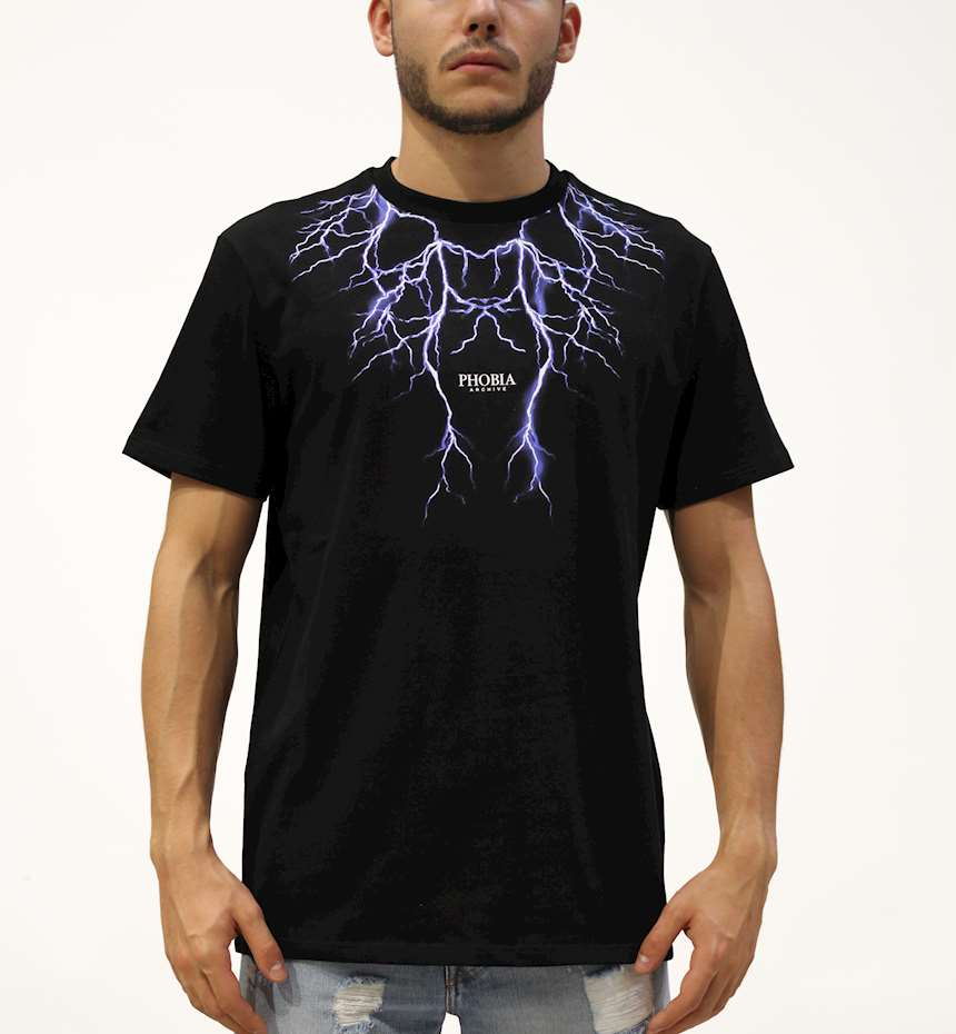 T-SHIRT PHOBIA BLUE LIGHTNING