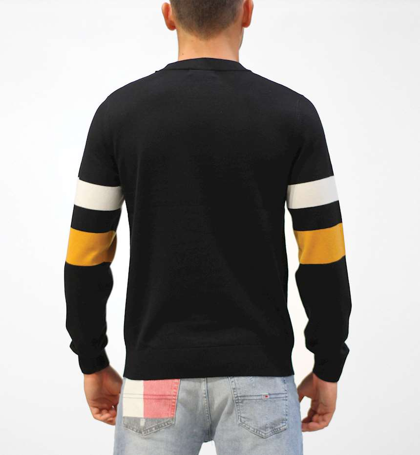 MAGLIONE FREDPERRY FP TIPPED SLEEVE CREW NECK JUMPER