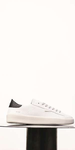 SNEAKERS D.A.T.E.CALF WHITE-BLACK