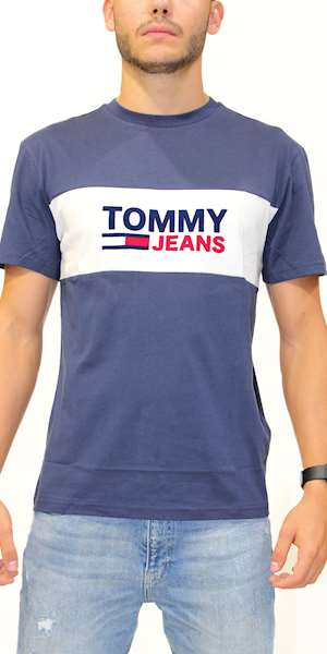 T-SHIRT TOMMYHILFIGER TJM PIECED BAND LOGO TEE