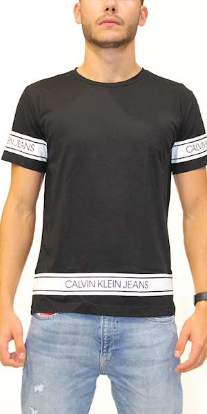 T-SHIRT CALVIN KLEIN FASHION LOGO TAPE TEE