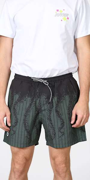 BOXER OCTOPUS OCTOPUS ASCII SWIM TRUNKS