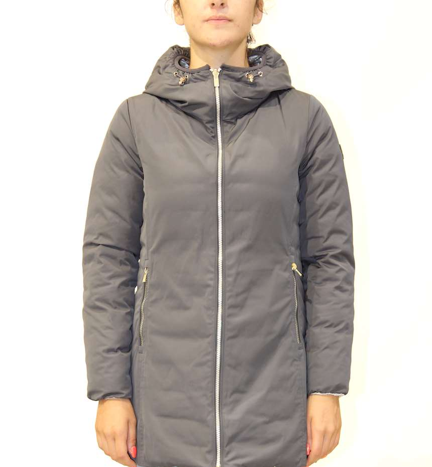 GIUBBINO CIESSE PIUMINI KALIE - 800FP LIGHT DOWN HOODY REVERSIBLE COAT