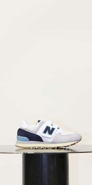 SCARPE SPORTIVE NEW BALANCE SCARPA KIDS LIFESTYLE LEATHER/TEXTILE